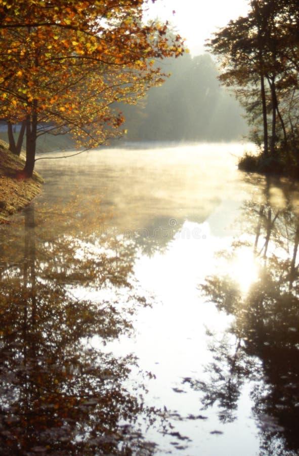 詹姆斯有薄雾的早晨 库存图片