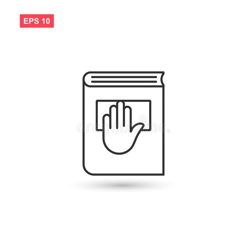 誓言与手和书设计的传染媒介线象被隔绝的 库存例证