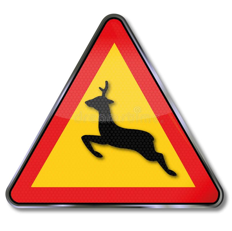 警告动物横穿 向量例证