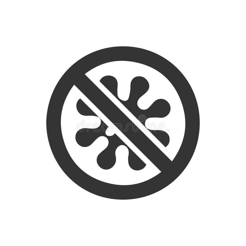 警告没有的毒菌象 向量例证