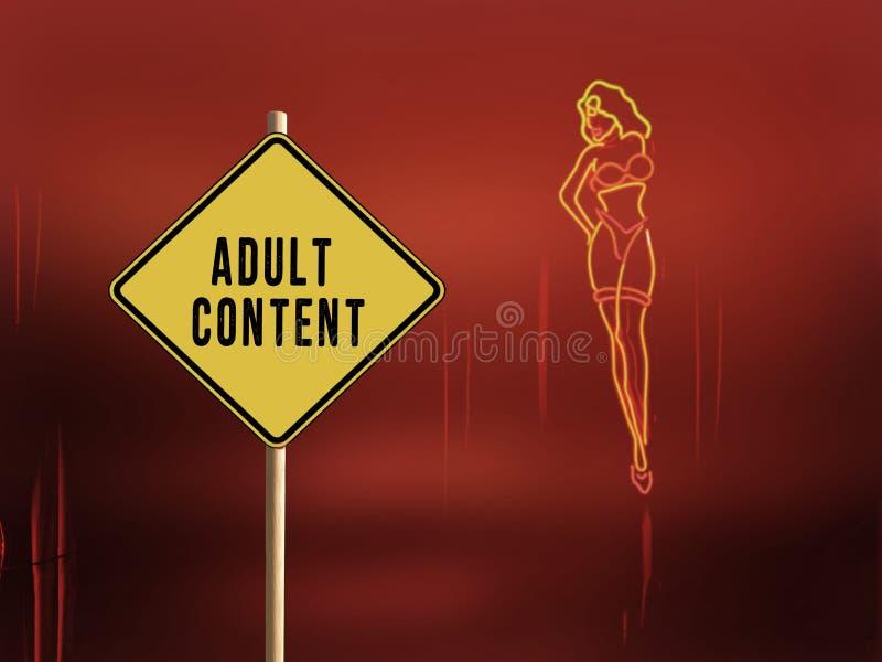 警告的成人美满的标志 免版税库存照片