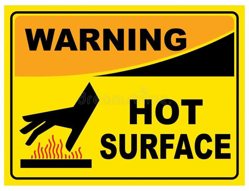 警告的标志热表面 皇族释放例证