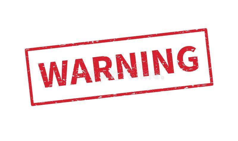 警告的红色邮票 r r 向量例证