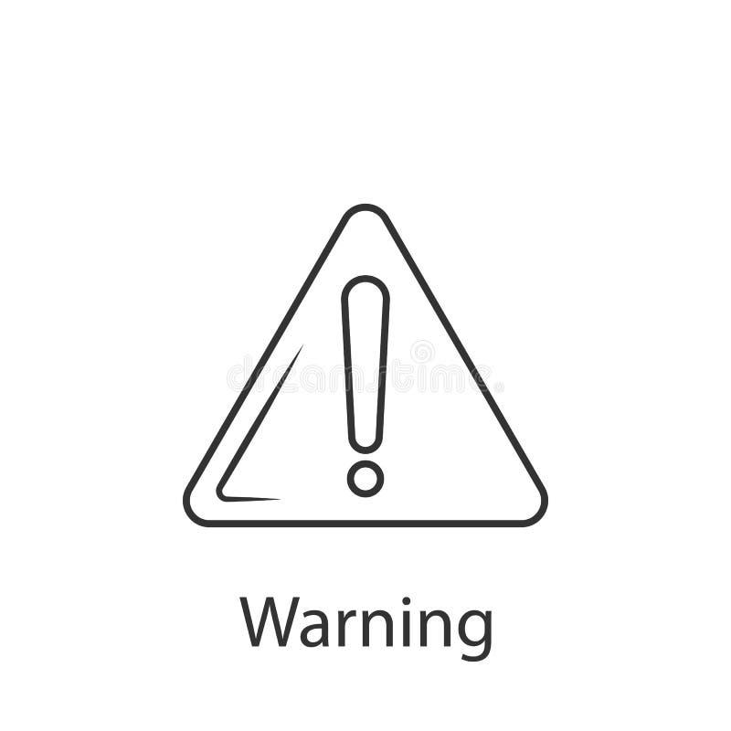 警告象象 简单的元素例证 从建筑汇集集合的警告象标志设计 能用于的网 皇族释放例证