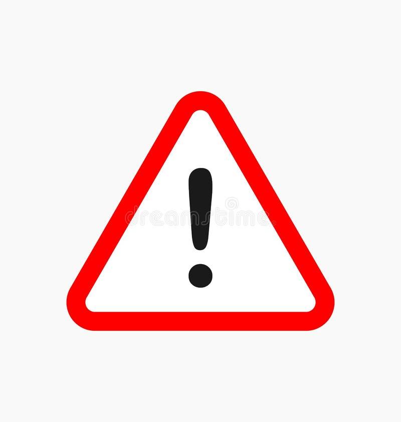 警告象/签到被隔绝的平的样式 y的小心标志 库存例证
