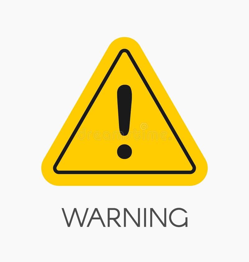 警告象/签到被隔绝的平的样式 y的小心标志 皇族释放例证