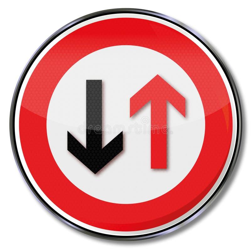 警告近来交通 皇族释放例证