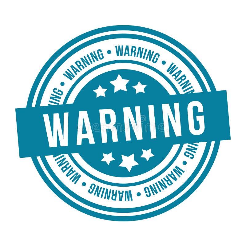 警告邮票 Eps10传染媒介徽章 库存例证