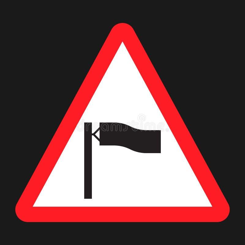 警告风标志平的象 库存例证