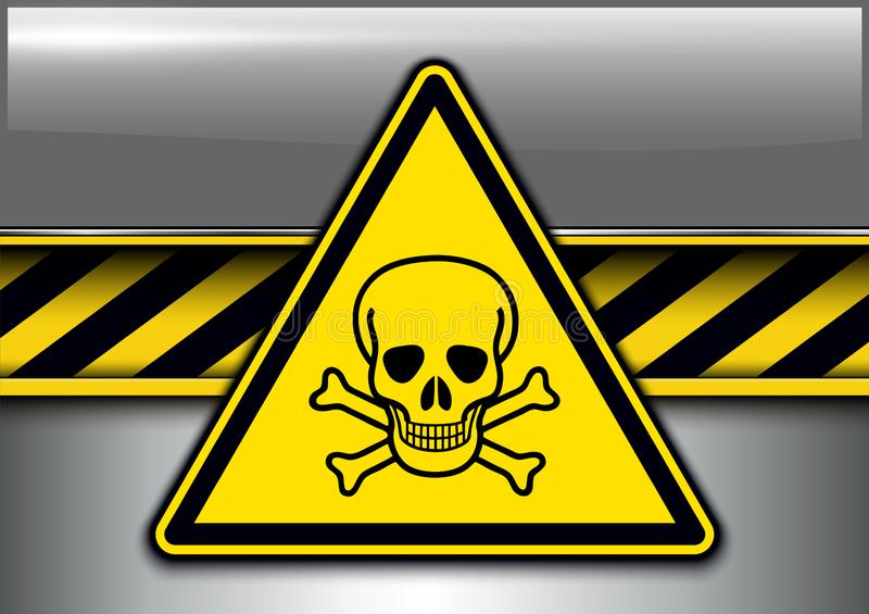 警告,危险背景 向量例证