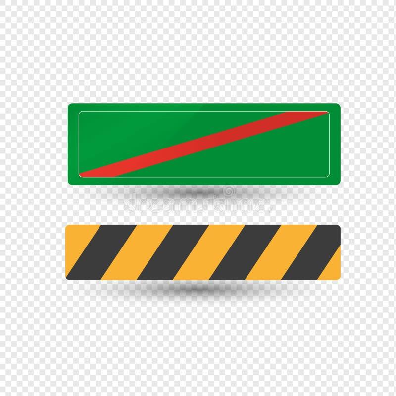 警告,指定危险区域,方向通知的路标 库存例证