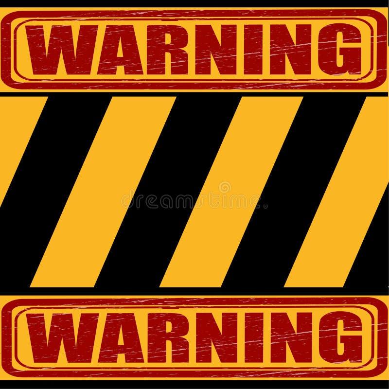 警告,黄色-黑标志说关于危险 皇族释放例证