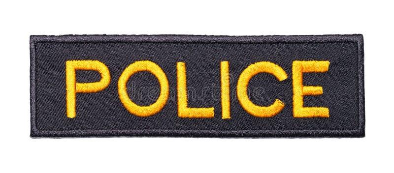 警察修补 免版税库存照片