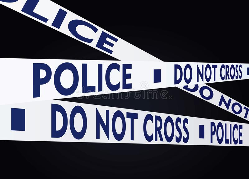 警察在白色背景录音 库存例证