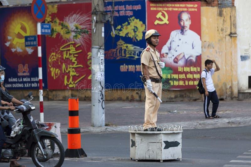 警察在越南 免版税库存照片