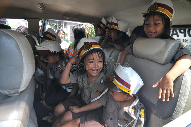 警察天在印度尼西亚 免版税库存图片