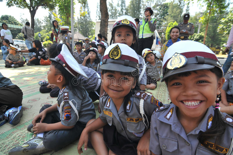 警察天在印度尼西亚 免版税库存照片