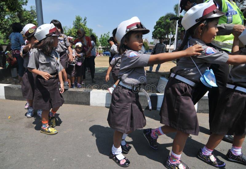警察天在印度尼西亚 免版税图库摄影