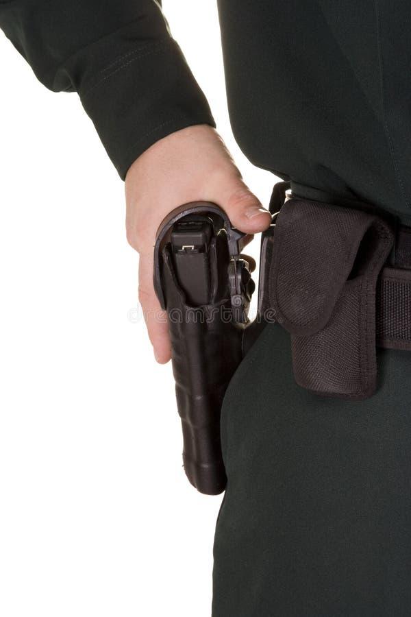 警察开枪 图库摄影