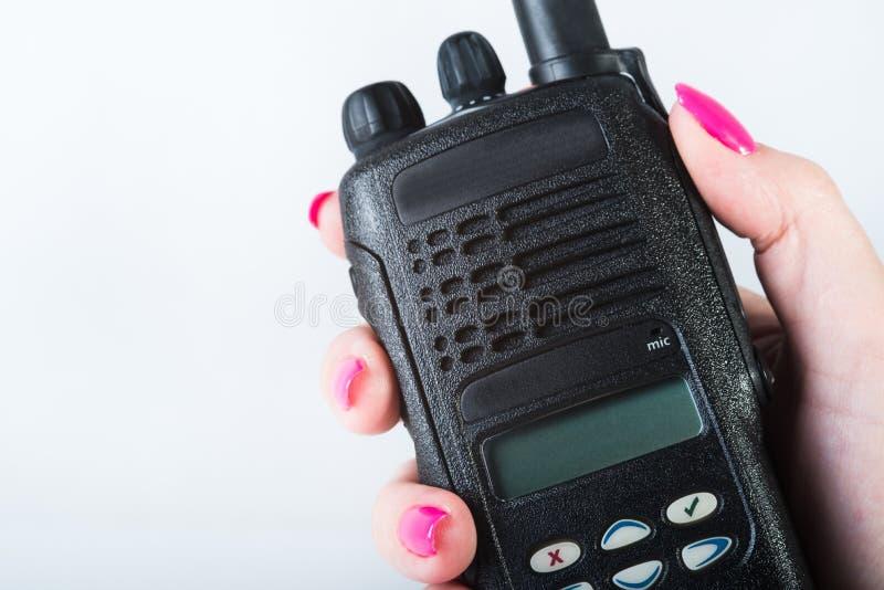 警察手提电话机 免版税库存照片