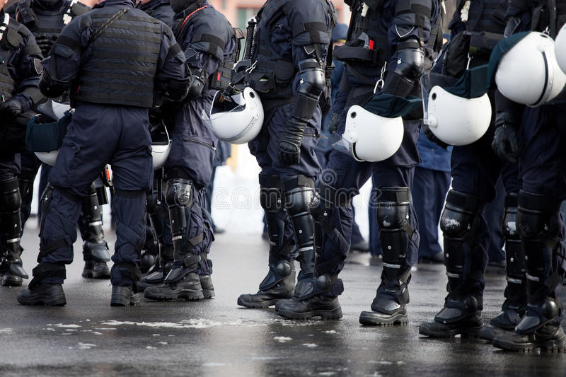警察暴乱 免版税库存图片