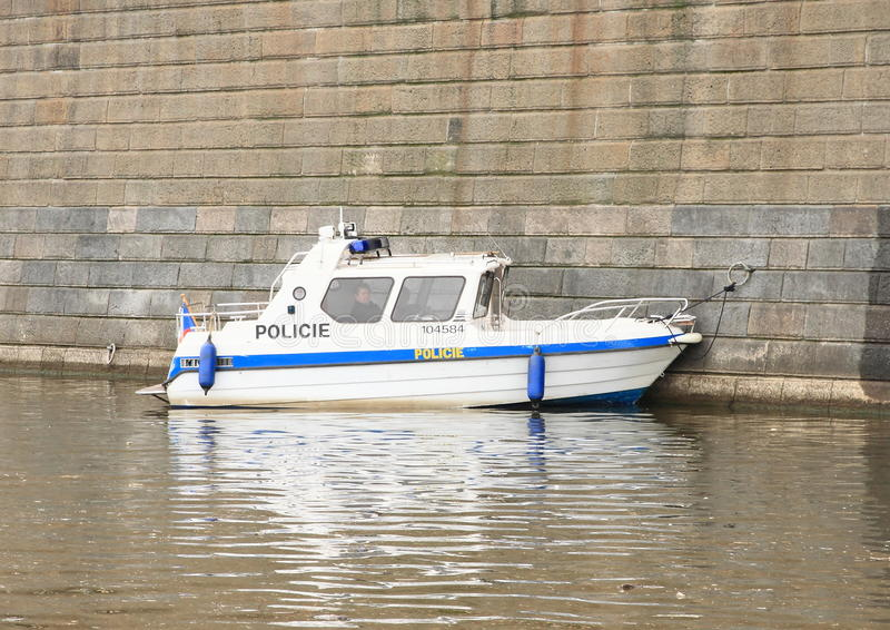 警察汽艇 免版税库存图片