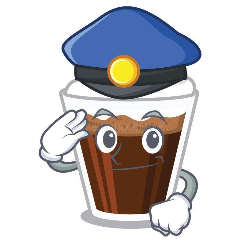 警察爱尔兰coffe隔绝与动画片 向量例证