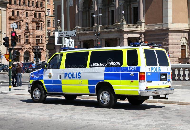 警察瑞典 库存图片