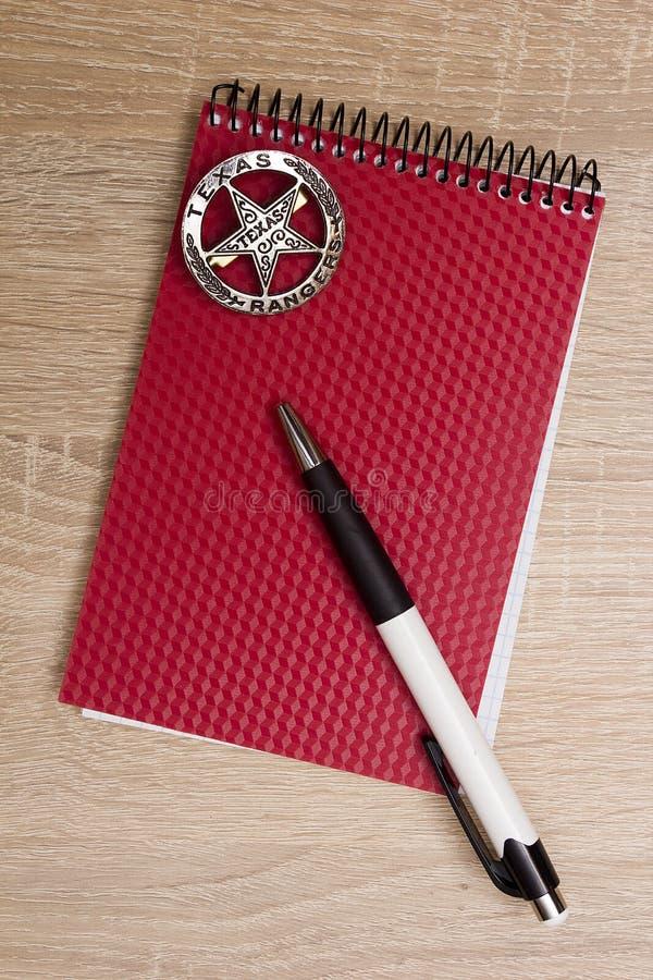 警察笔记本 免版税图库摄影