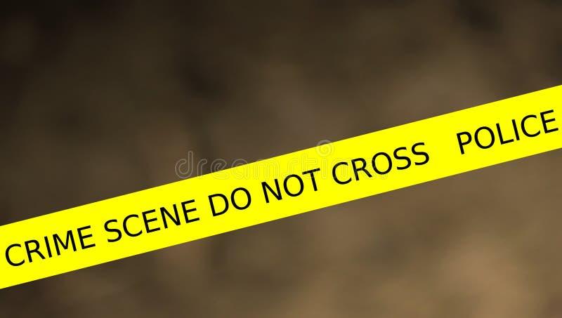 警察线犯罪现场的例证不横渡 库存例证
