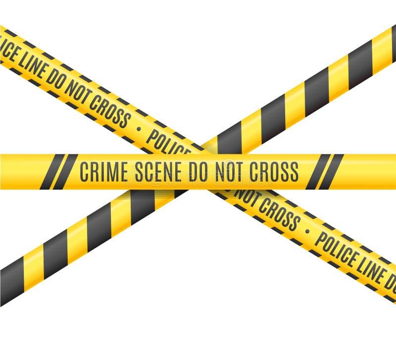 警察线 场面罪行不横渡 向量 向量例证