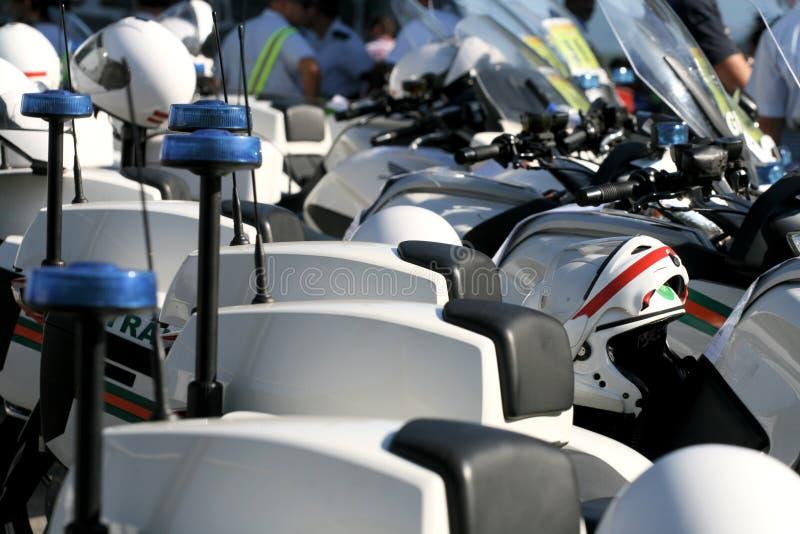 警察自行车 免版税库存照片