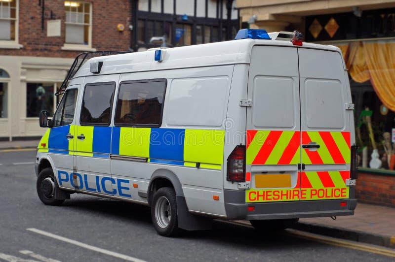 警察英国有篷货车 库存照片