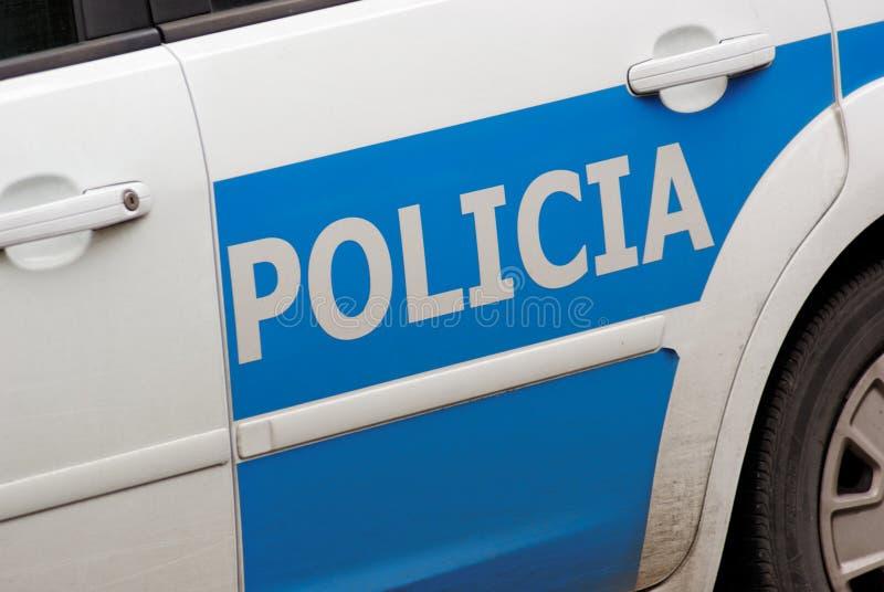 警察西班牙语 免版税库存照片