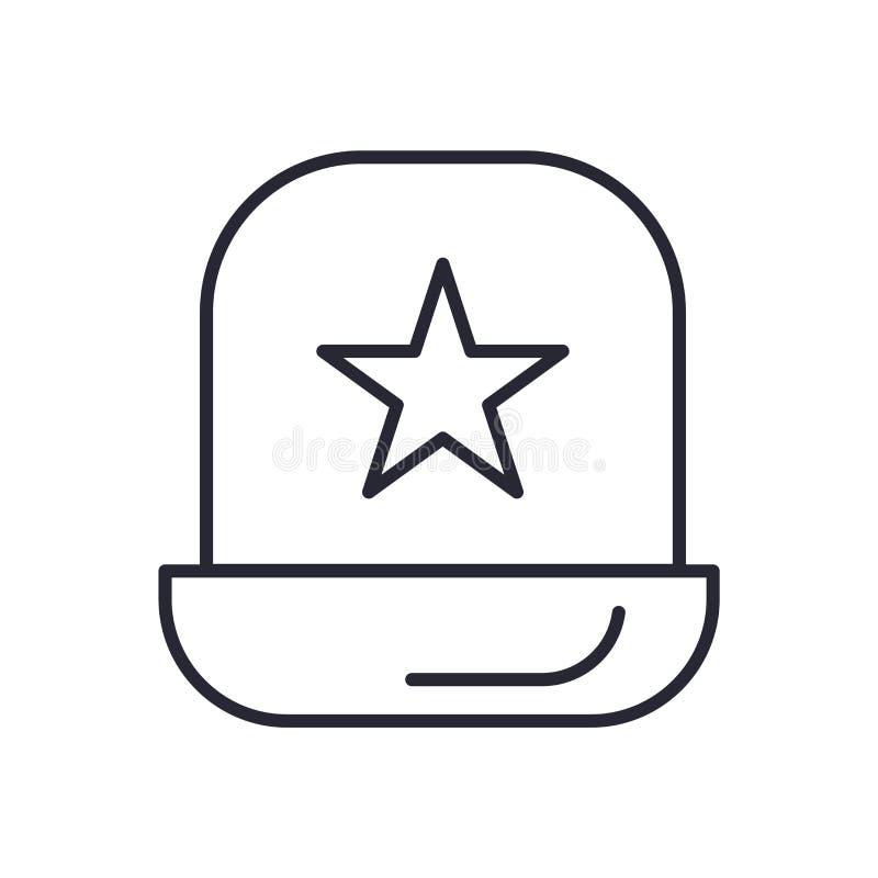 警察象在白色背景和标志隔绝的传染媒介标志,警察商标概念 向量例证