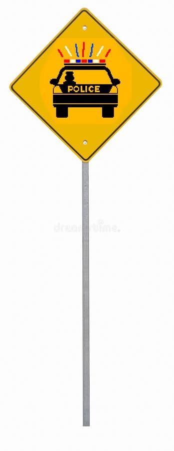警察路标 免版税库存图片
