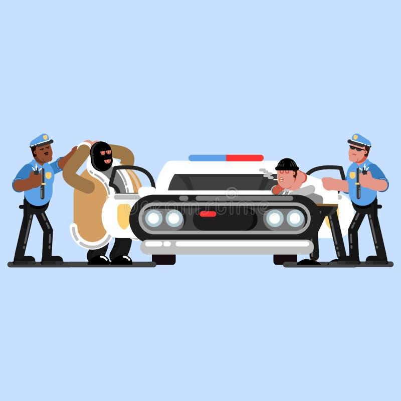 警察速写官员 皇族释放例证