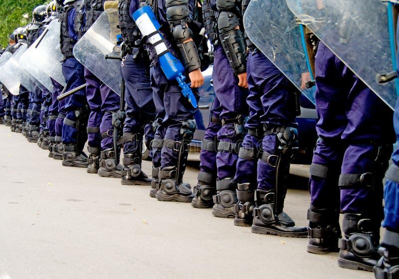 警察队伍 图库摄影
