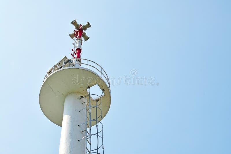 警报器塔 免版税库存图片