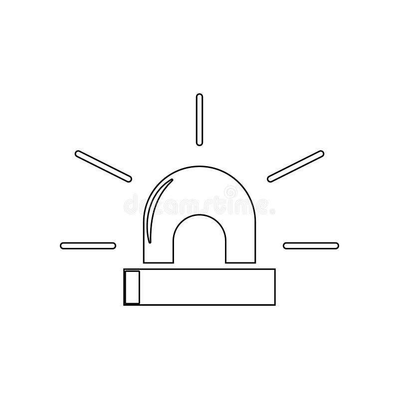 警报器象 消防员的元素流动概念和网应用程序象的 r 库存例证