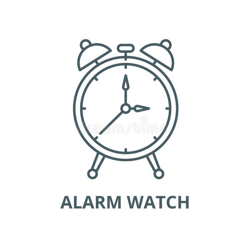 警报手表传染媒介线象,概述概念,线性标志 皇族释放例证
