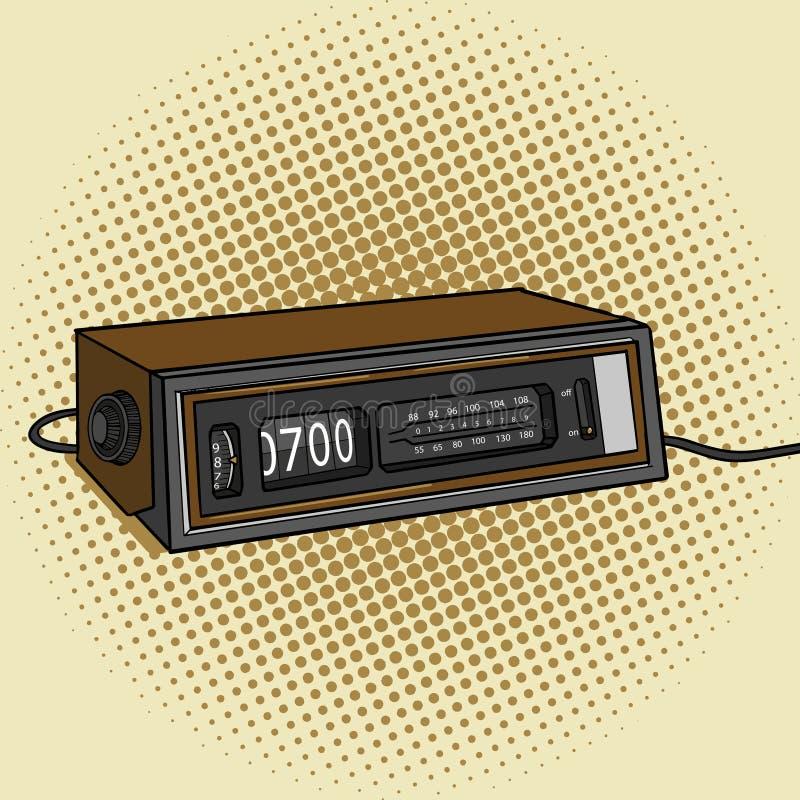 警报无线电时钟流行艺术样式传染媒介 向量例证