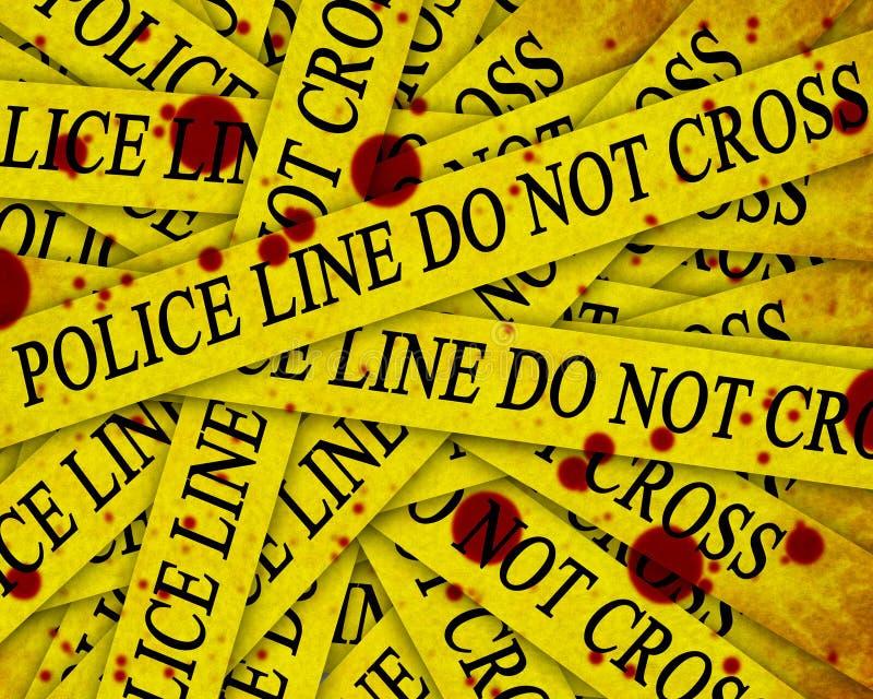 警方调查 向量例证