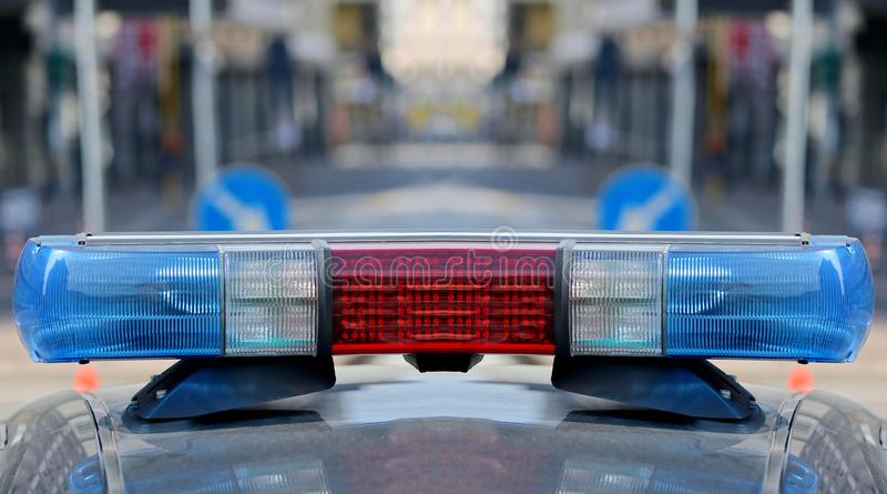 警车的警报器 免版税图库摄影