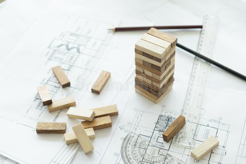 计划、项目管理风险和战略在事务的 免版税库存图片