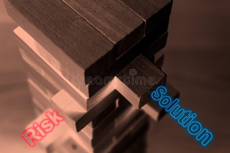 计划、风险、解答和战略在事务 图库摄影