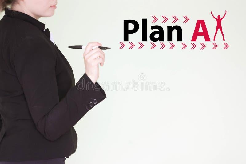 计划一个概念 2 business woman 免版税图库摄影