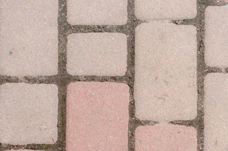 计划与与拷贝空间的红砖surfacse 免版税库存照片