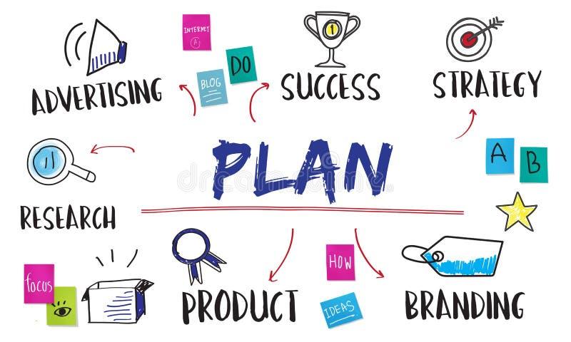 计划企业目标投资图概念 皇族释放例证