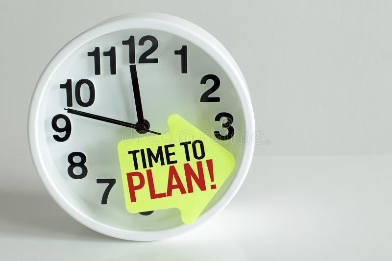 计划时间 免版税图库摄影